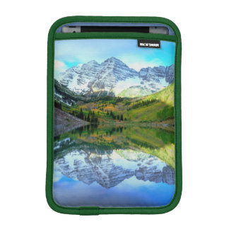 Maroon Bells reflecting in Maroon Lake iPad Mini Sleeve