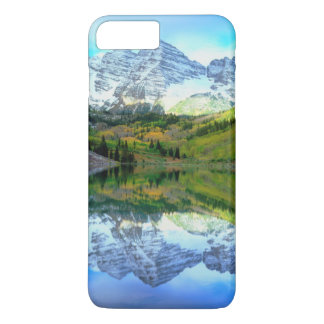 Maroon Bells reflecting in Maroon Lake iPhone 8 Plus/7 Plus Case