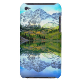 Maroon Bells reflecting in Maroon Lake iPod Touch Case-Mate Case