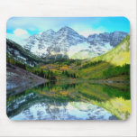 Maroon Bells reflecting in Maroon Lake Mouse Mat