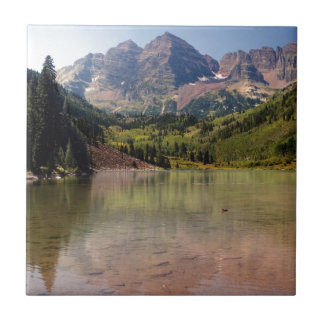Maroon Bells Small Square Tile