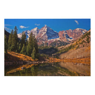 Maroon Bells Wood Wall Art