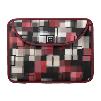 Maroon Black White Abstract Plaid Sleeve For MacBooks