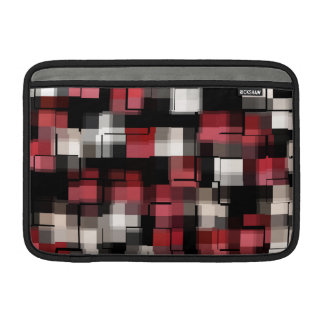Maroon Black White Plaid MacBook Sleeve