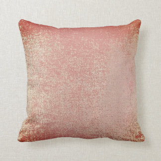 Maroon Blush Gold Mint Pink Rose Painting Coral Cushion