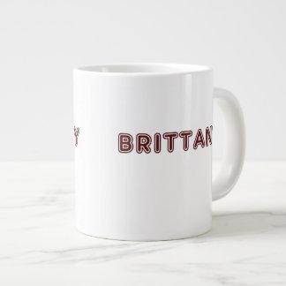 Maroon Brittany name Large Coffee Mug