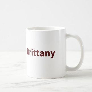 Maroon Brittany name Mugs