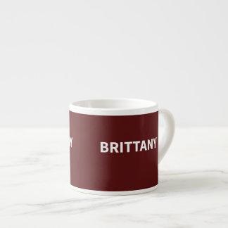 Maroon Brittany name Espresso Mug