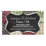 Maroon, Brown, Tan, & Green Quilt Look Pack Of Standard Business Cards