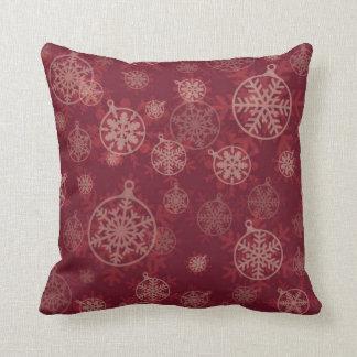 Maroon Christmas Throw Pillow
