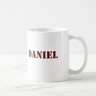 Maroon Daniel name Coffee Mug
