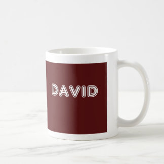 Maroon David name Coffee Mug