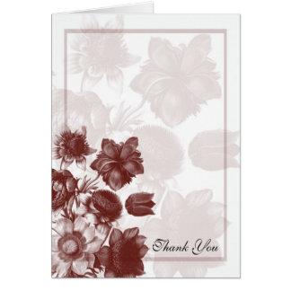 Maroon Elegant Flower Wedding Cards