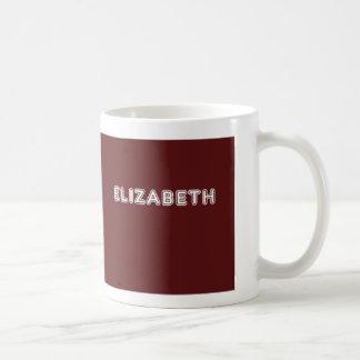 Maroon Elizabeth name Coffee Mug