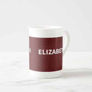 Maroon Elizabeth name Tea Cup