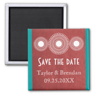 Maroon Far East Elegance Save the Date Magnet