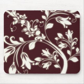 Maroon Flowers Mousepad