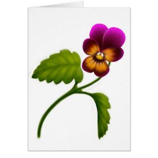 Maroon Garden Viola Card