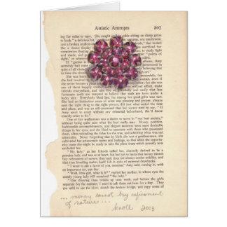 Maroon Gems Jewelry Watercolor Series Notecard Cards