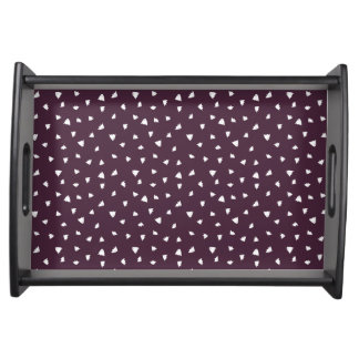Maroon Geo Floral Serving Tray