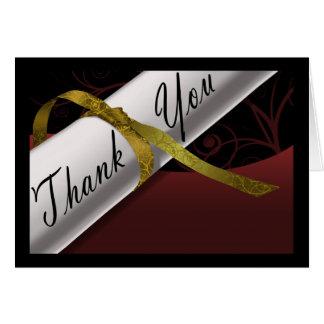Maroon & Gold Diploma Thank You Card