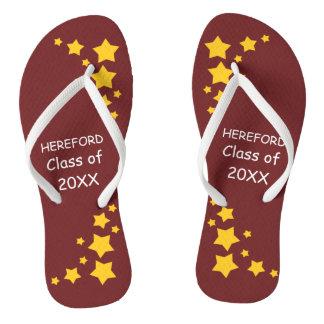 Maroon & Gold Senior Class Flip Flops