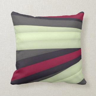 Maroon Grey White Pillow