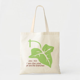 Maroon John 15-5 Vine Green Tote Bags