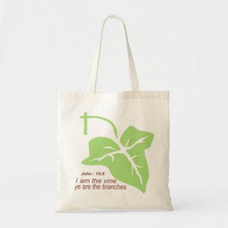 Maroon John 15-5 Vine Green Budget Tote Bag