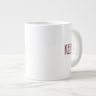 Maroon Kelly name Large Coffee Mug