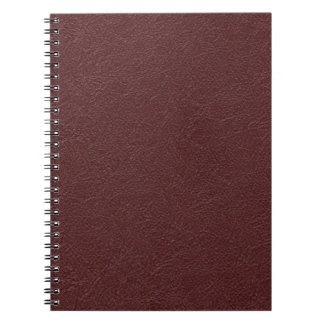 Maroon Leather Notebooks