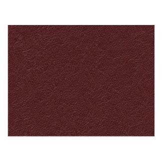 Maroon Leather Postcard