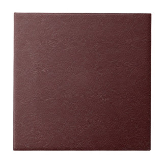 Maroon Leather Tile