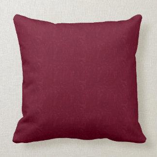 "Maroon Moire Texture Print Throw Pillow 20"" x 20"""