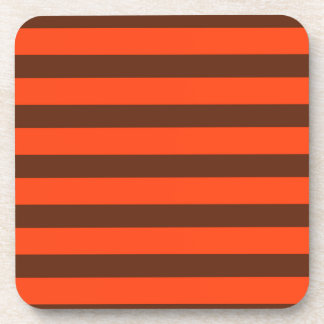 maroon orange coaster
