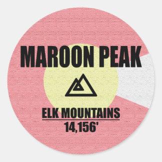 Maroon Peak Classic Round Sticker