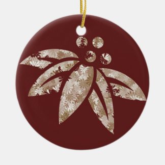 Maroon Poinsettia - Ornament