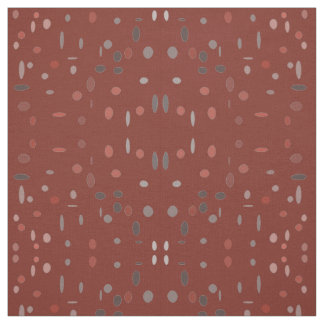 Maroon Polka Dot Fabric
