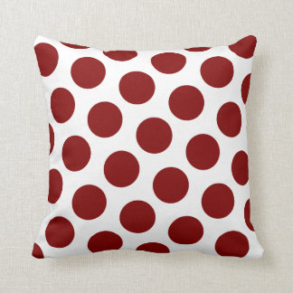Maroon Polka Dot Pattern Cushion