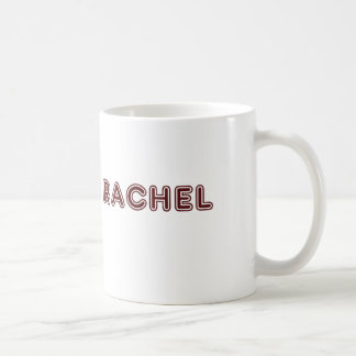 Maroon Rachel name Coffee Mug