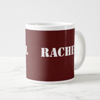 Maroon Rachel name Large Coffee Mug