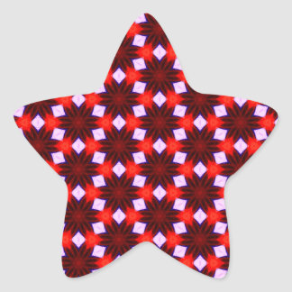 Maroon Red and Blue Pattern Background Star Sticker