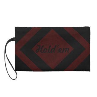 Maroon Red Color Velvet Custom Home Casino Wristlet