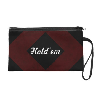 Maroon Red Color Velvet Custom Home Casino Wristlet Purses