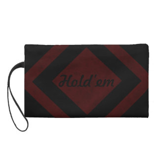 Maroon Red Color Velvet Custom Home Casino Wristlet Clutches