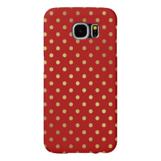 Maroon Red Glitter Polka Dots Charming Pattern Samsung Galaxy S6 Cases
