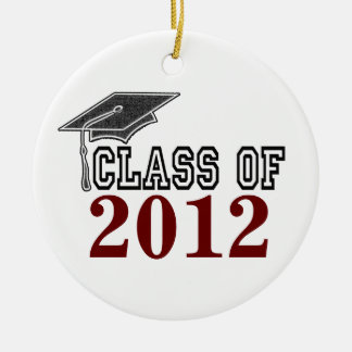 Maroon Red Graduating Class of 2012 Ornament
