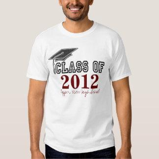 Maroon Red Graduating Class of 2012 T-shirt