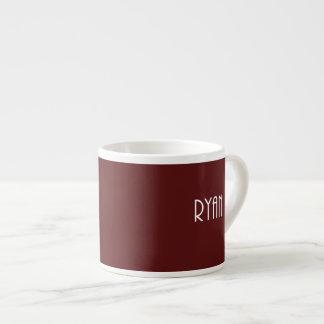 Maroon Ryan name Espresso Cup