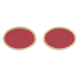 Maroon Simplicity Gold Finish Cuff Links